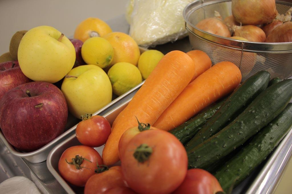 野菜、果物すべて自由に