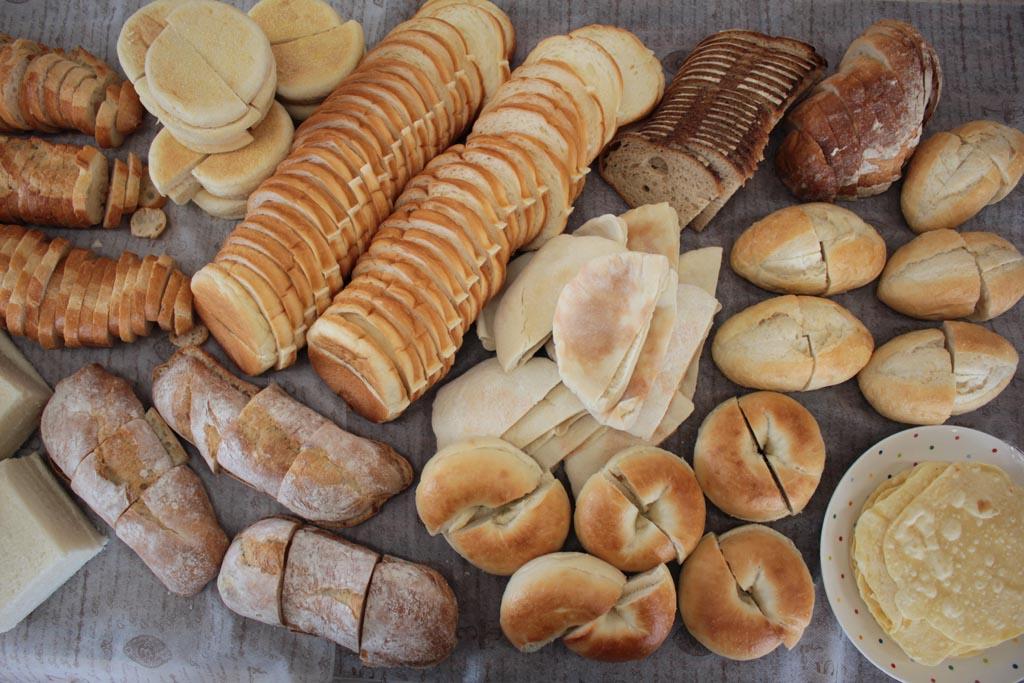 色々なパンが勢揃い